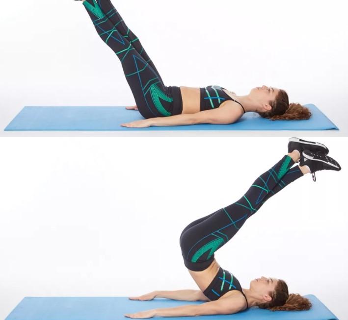 Động tác Reverse Plank Hover