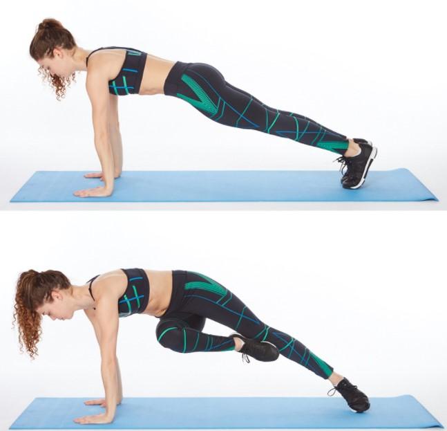 Động tác Full Plank Passe Twist