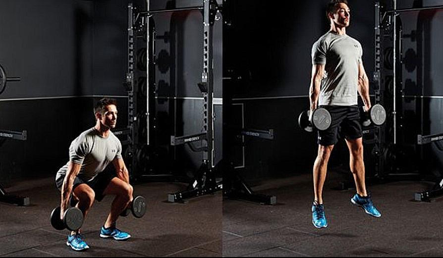 Tăng nhảy bật cao với phương pháp nhảy xổm với trọng lượng